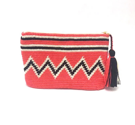 I LOVE SYRIA Clutch - Coral ZigZag