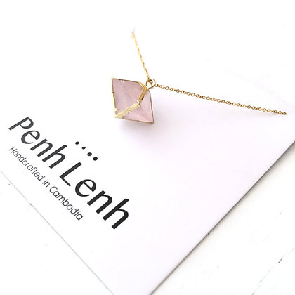 Gemstone Necklace - Pink Quartz