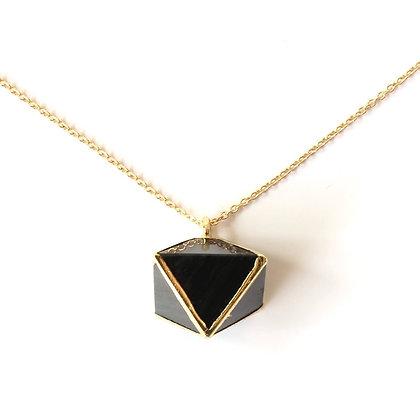 Collier Agate Noire