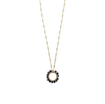 Rising Sun Black Pearl Necklace