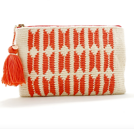 I LOVE SYRIA Clutch - Coral Butterfly