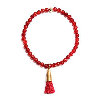 Carnelian Tassel Bracelet