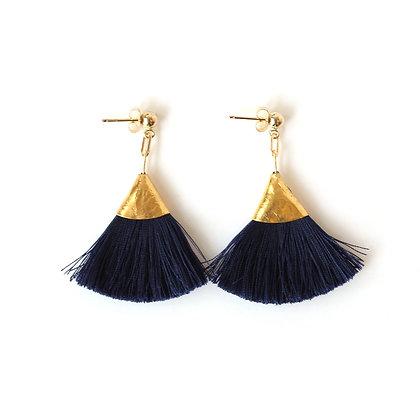 Josie Tassel Earrings - Navy