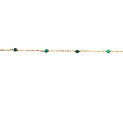 Dainty Gemstone Bracelet - Malachite