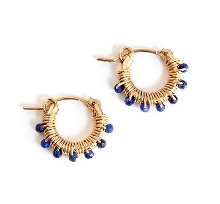 Gemstone Hoops 13 - Blue Lapis