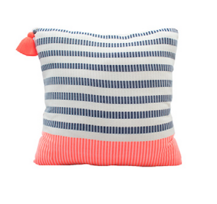 Neon Pillow Stripes - Orange Small