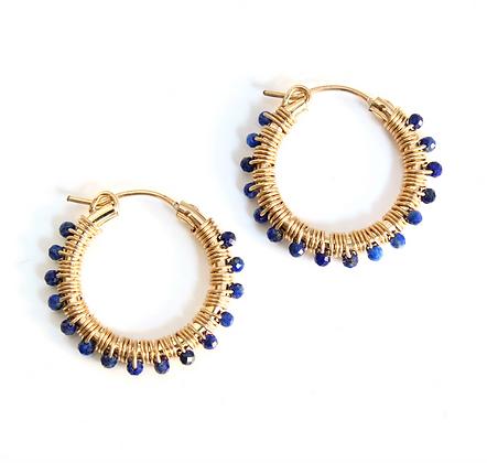 Gemstone Hoops 22 - Blue Lapis