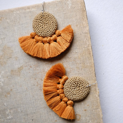 Crochet Earrings - Cumin & Turmeric