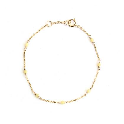 Dainty Gemstone Bracelet - Lemon Quartz