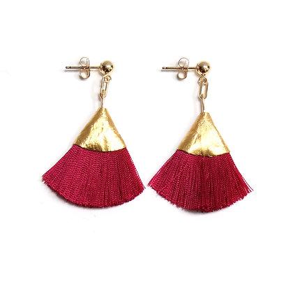 Josie Tassel Earrings - Red