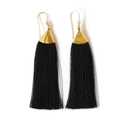 Mimi Tassel Earrings - Black