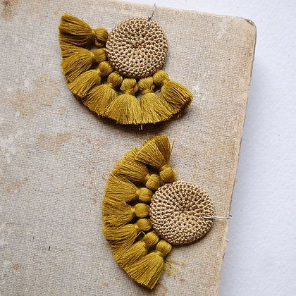 Crochet Earrings - Cumin
