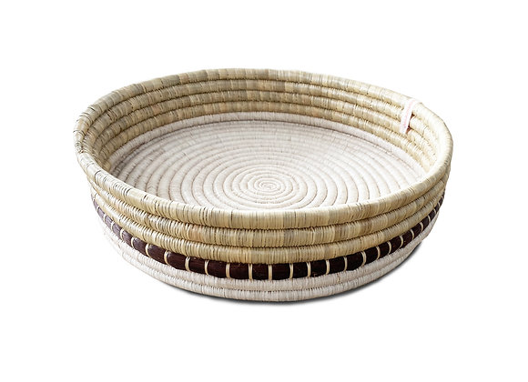 Round Woven Serving Tray