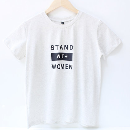 Stand with Women T-Shirt - White