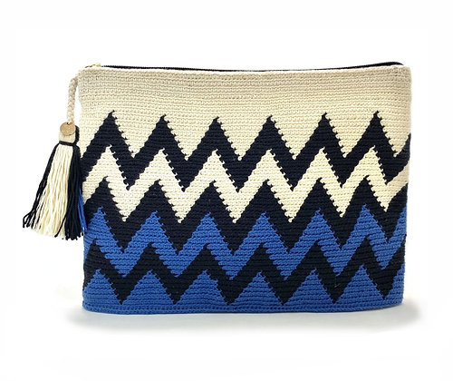 I LOVE SYRIA Clutch - Zig Zag Blue