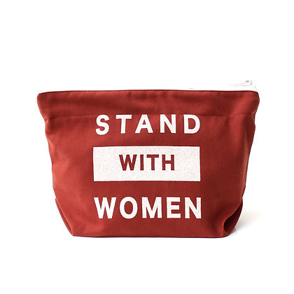 Stand with Women Bag - Brick Red