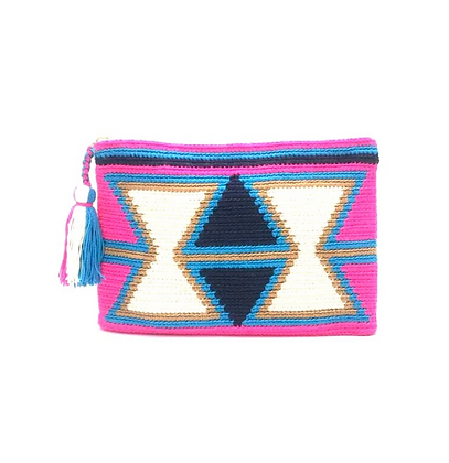 I LOVE SYRIA Clutch - Pink Inverted Triangles
