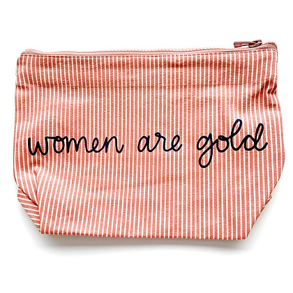Women Are Gold Bag - Red