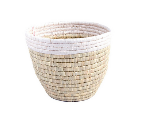 Large Kisimbo Storage Basket & Planter - White