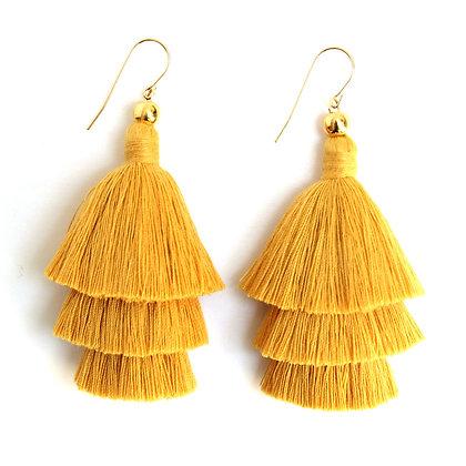 Mary Tassel Earrings - Yellow
