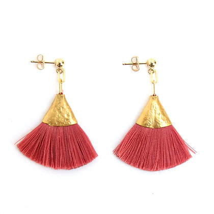 Josie Tassel Earrings - Coral