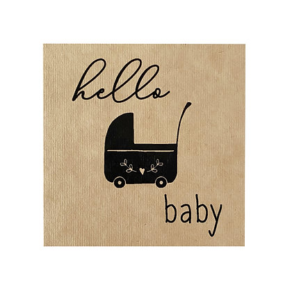 Greeting Card - Hello Baby