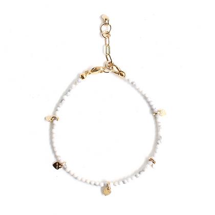 Gemstone Bracelet - White Howlite