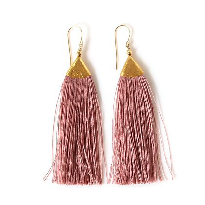 Mimi Tassel Earrings - Blush