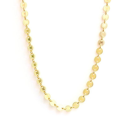 Round Disc Gold Necklace