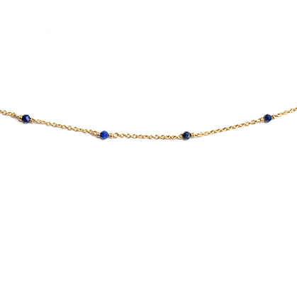Dainty Gemstone Bracelet - Blue Lapis
