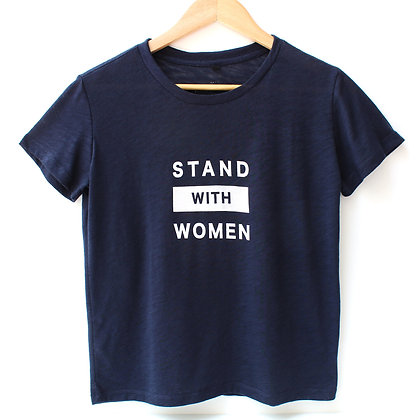 Stand with Women T-Shirt - Navy