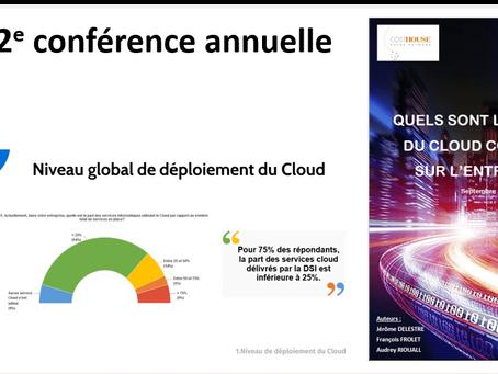 """2e conférence annuelle sur l'impact des services """"cloud"""" sur les entreprises"""
