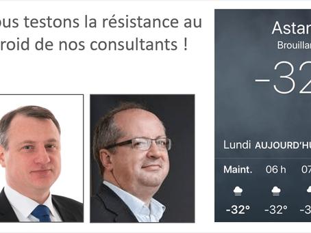 Nous testons la résistance au froid de nos consultants!