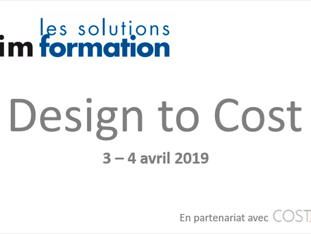 Design to Cost: 3-4 avril 2019