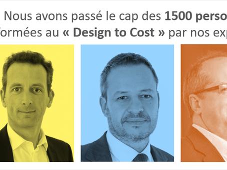 """Cap des 1 500 personnes formées au """"Design to Cost"""" par nos experts"""
