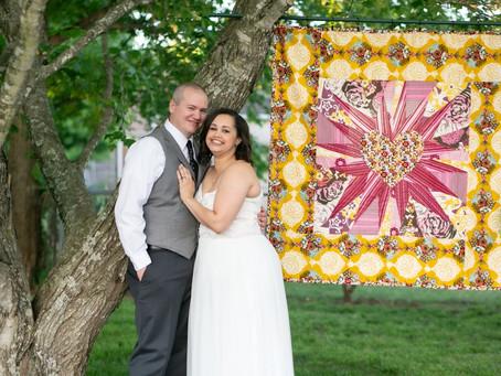 Amanda + Weston / Romantic Backyard Wedding