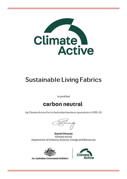 Sustainable Living Fabrics_Certificate_O