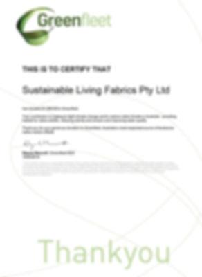 Our Greenfleet Certification