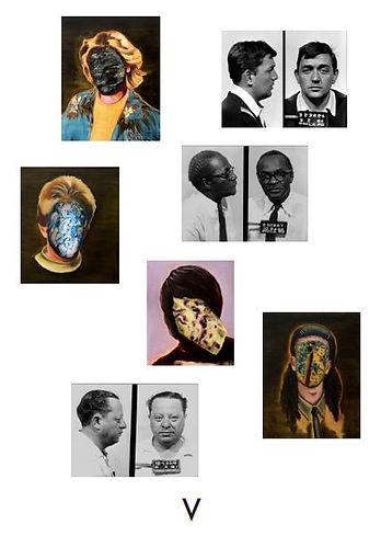 Sally Kindberg at Peter von Kant, Mugshots poster 2014, art, artist, painting, contemporary painting, contemporary art