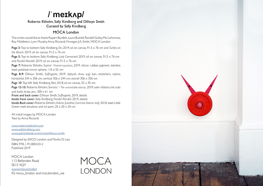 MOCA London, Sally Kindberg, Dillwyn Smith, Robeto Ekholm, 2019