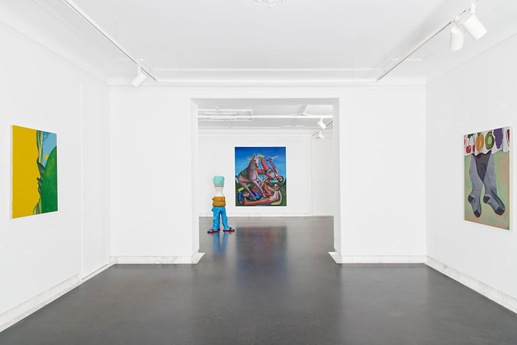 "68projects group exhibition ""Error Explanation"" with works by Ivana de Vivanco, Sally Kindberg and Paris Giachoustidis. Berlin 2021"