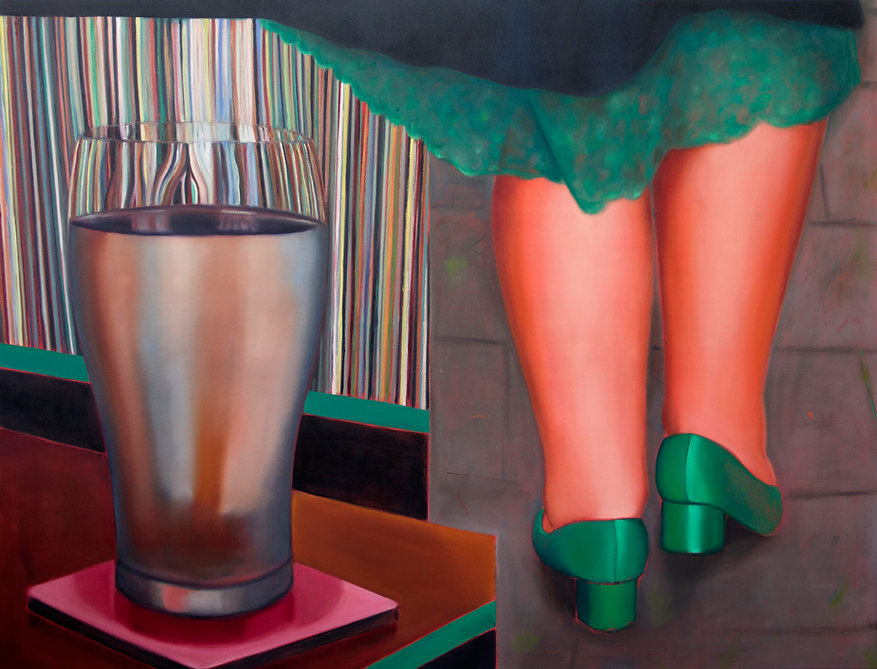 Sally Kindberg Calf Pint, 2020. Oil on linen, 150 x 200 cm