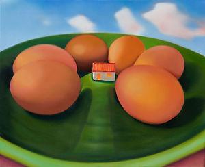 Sally Kindberg_Still Life in Landscape with Windows Sky