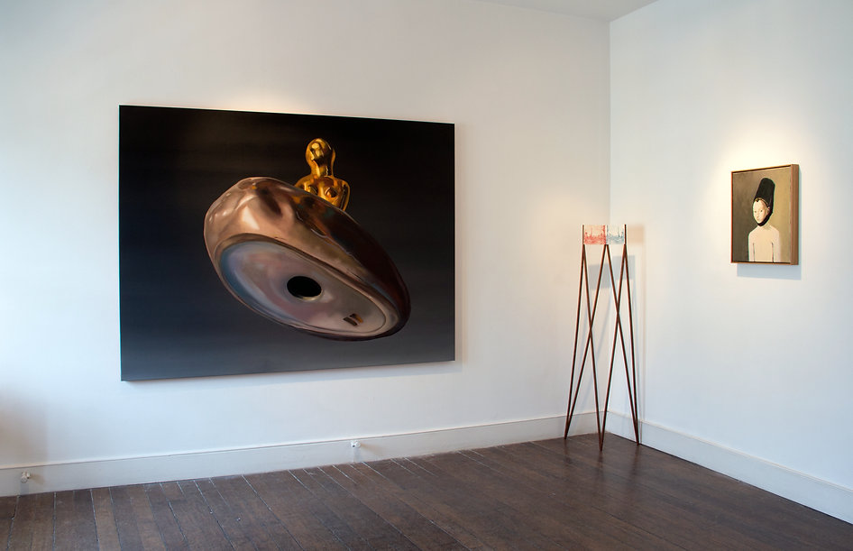Sally Kindberg, Messier 31 (or the Andromeda Galaxy) 2015 atAnthology,Charlie SmithLondon oil on linen, 200x150 cm, art, artist, painting, contemporary painting, contemporary art