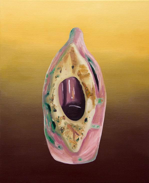 Sally Kindberg, From the series Underbelly,Arp 220, 2014 oil on linen, 55x45 cm, art, artist, painting, contemporary painting, contemporary art