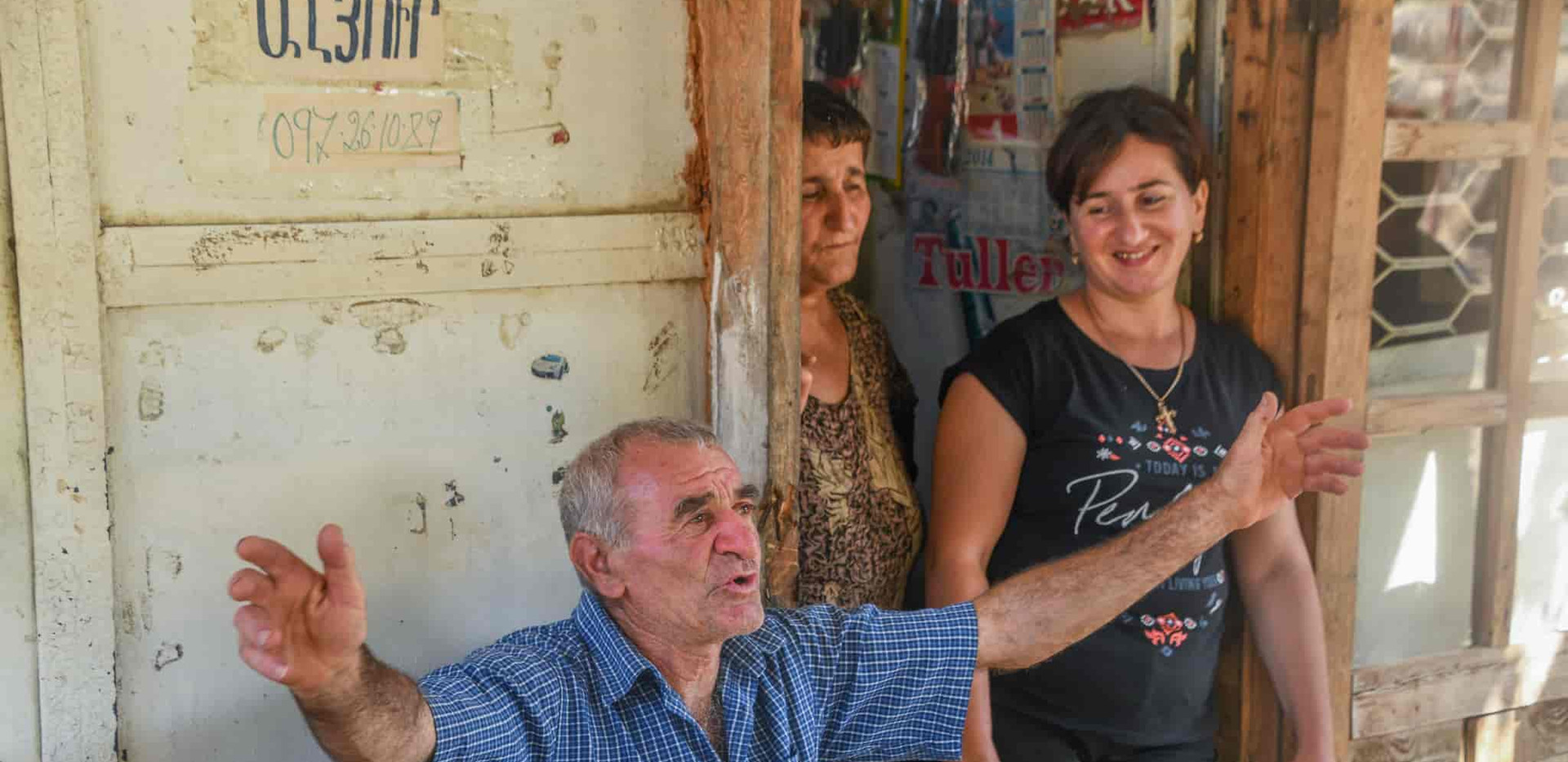an intimate chat with a villager of Artsakh