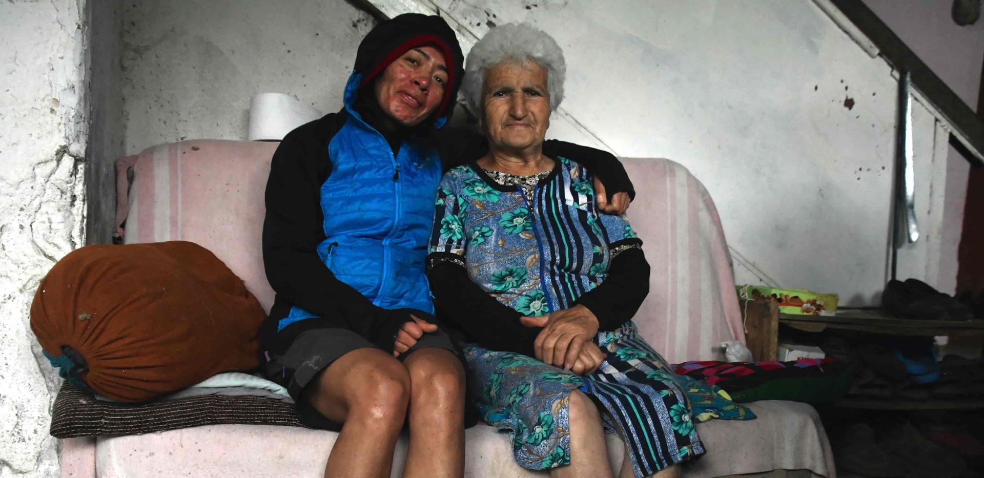 At grandma Jenya's house in Karmir Shuka Village