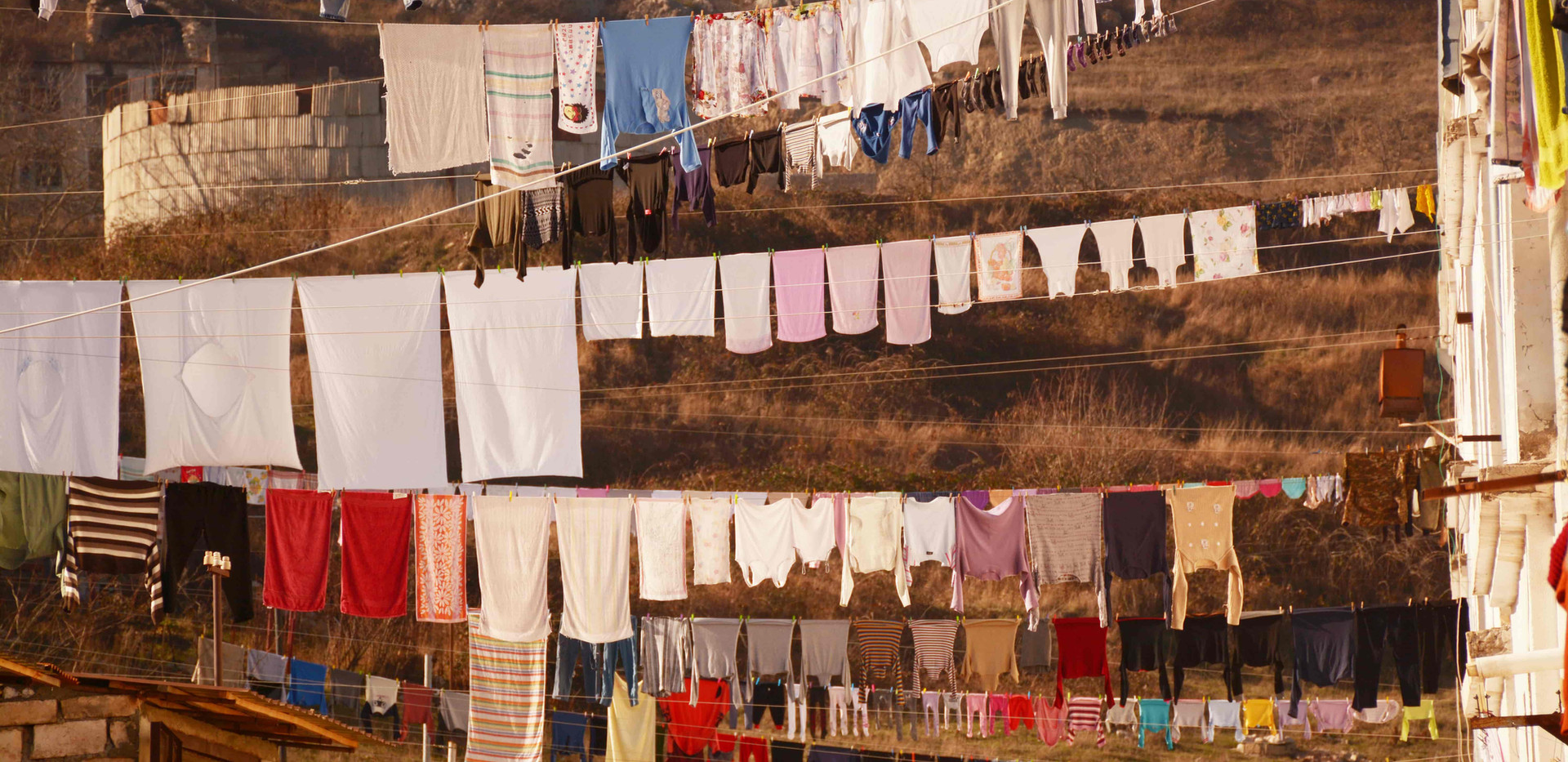 an average laundry day in Shushi