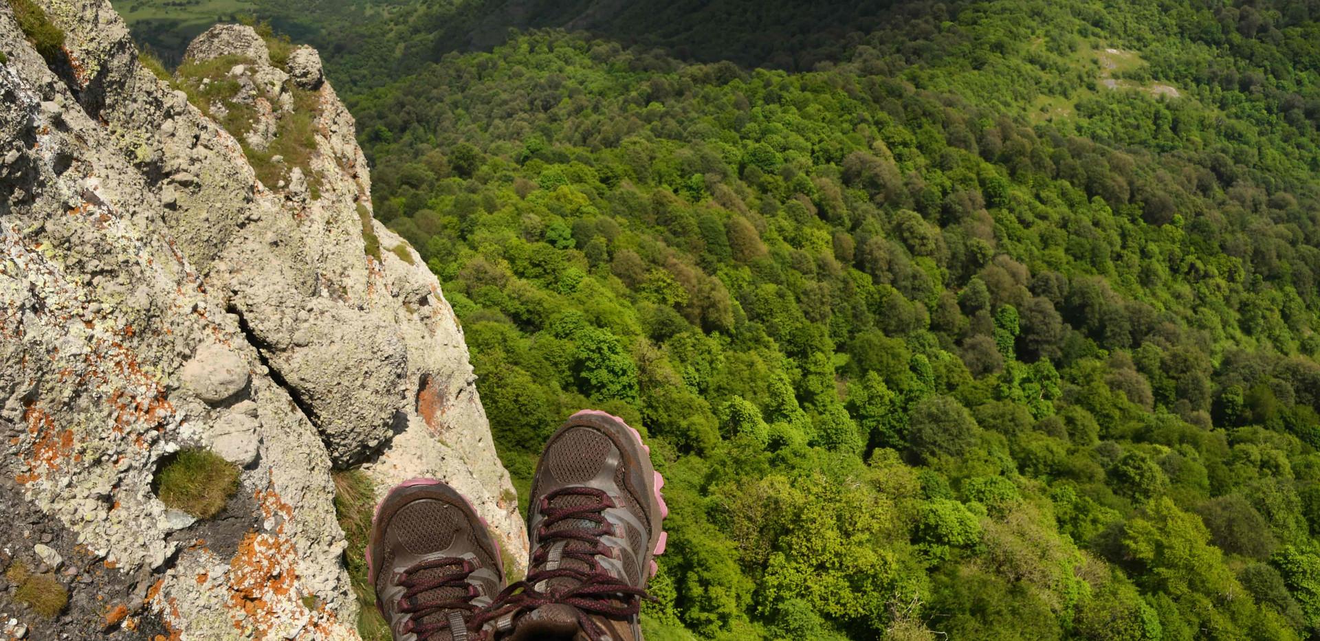 view from the Kachaghakaberd mountain