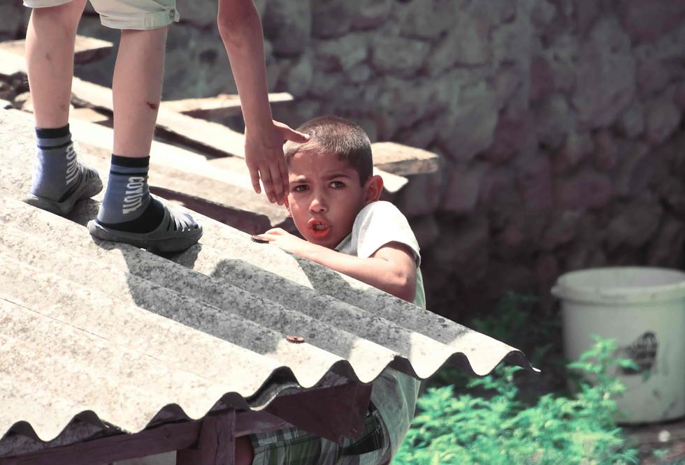 kids playing in Karmir Shuka